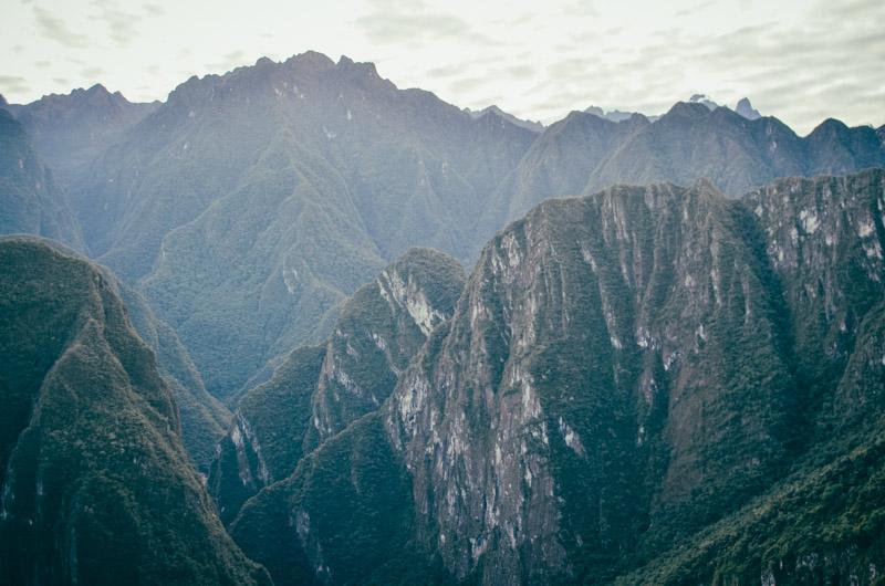 montanhas de machu picchu
