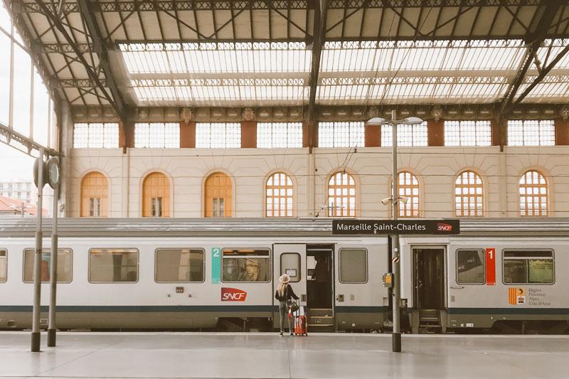 Estação de trem em Marselha