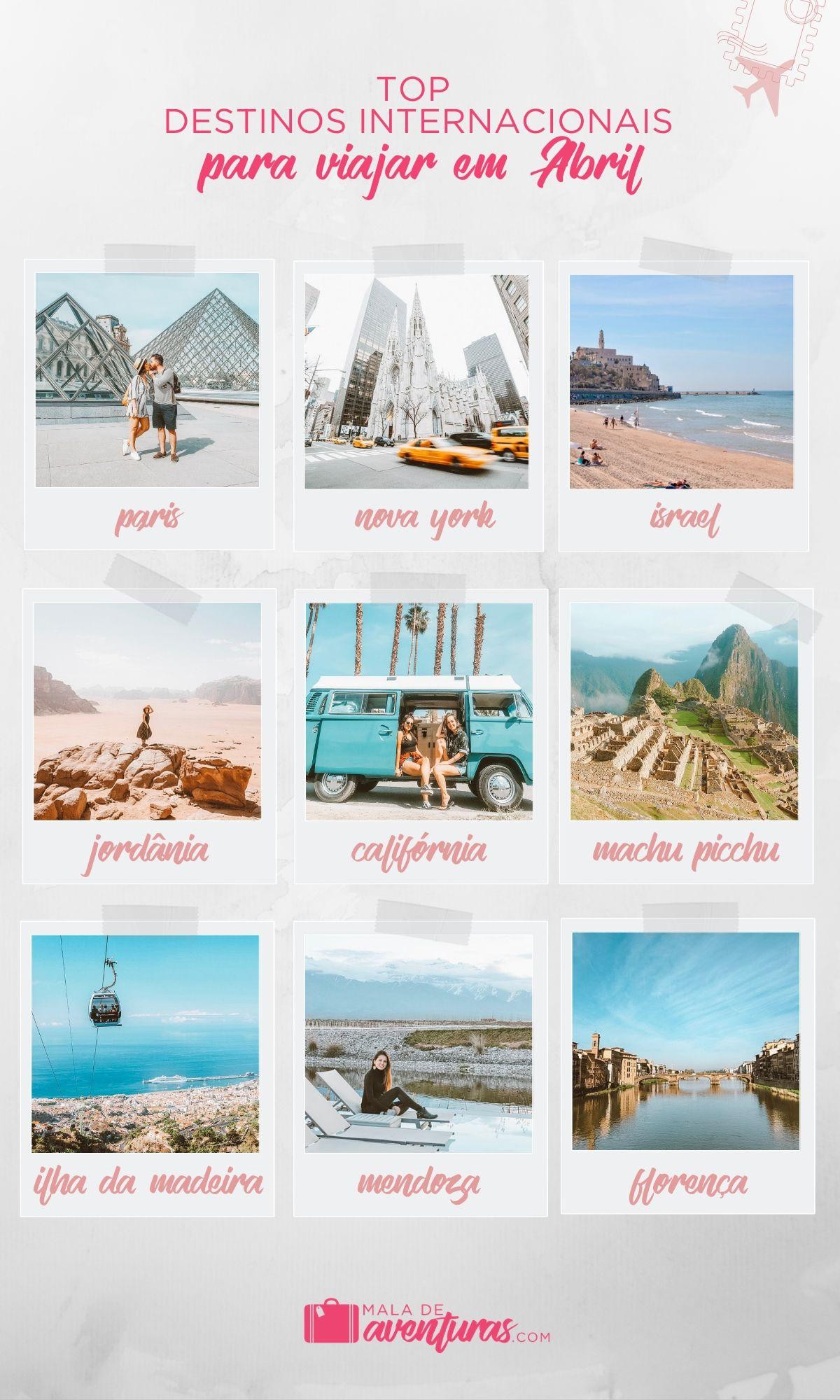 para onde viajar em abril no exterior