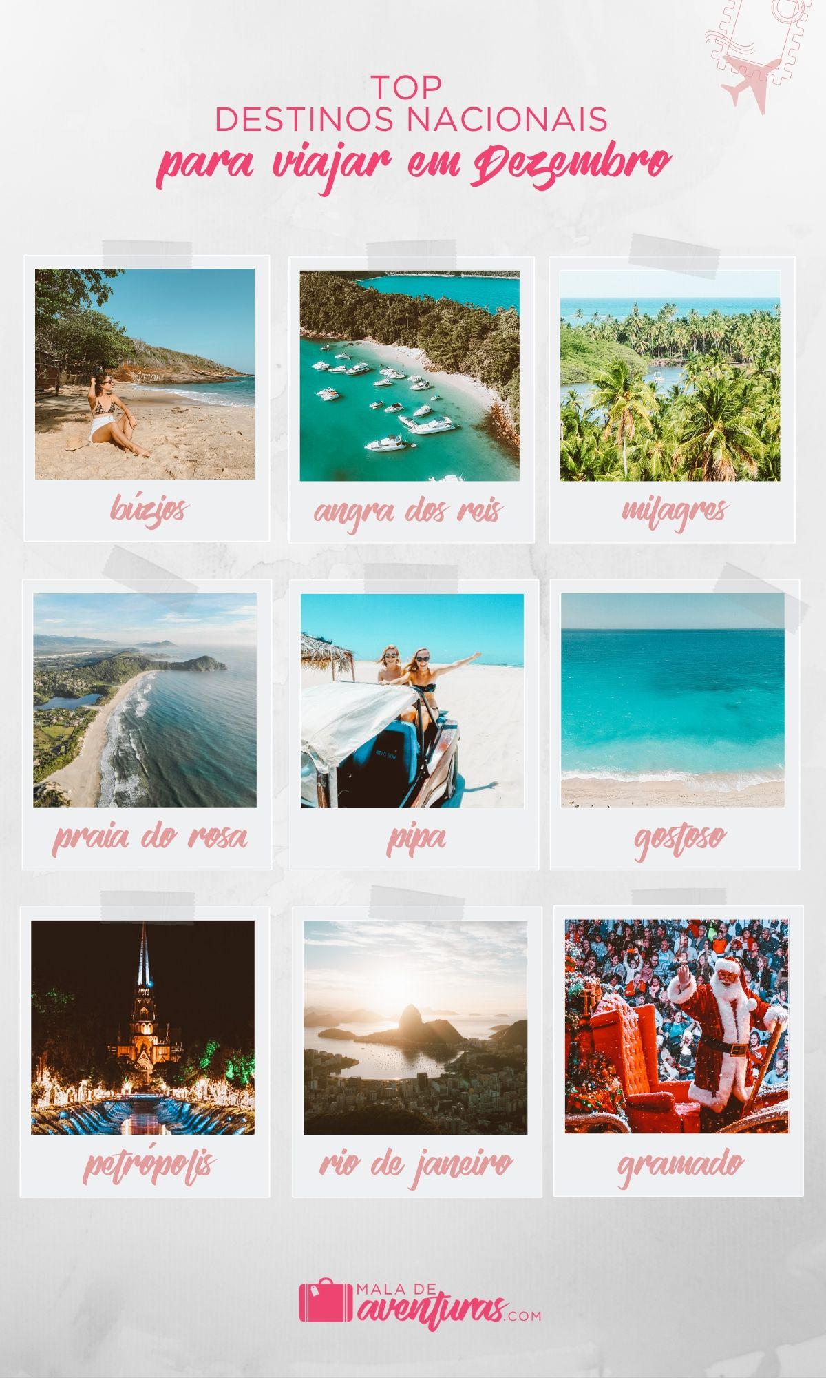 para onde viajar em dezembro no brasil