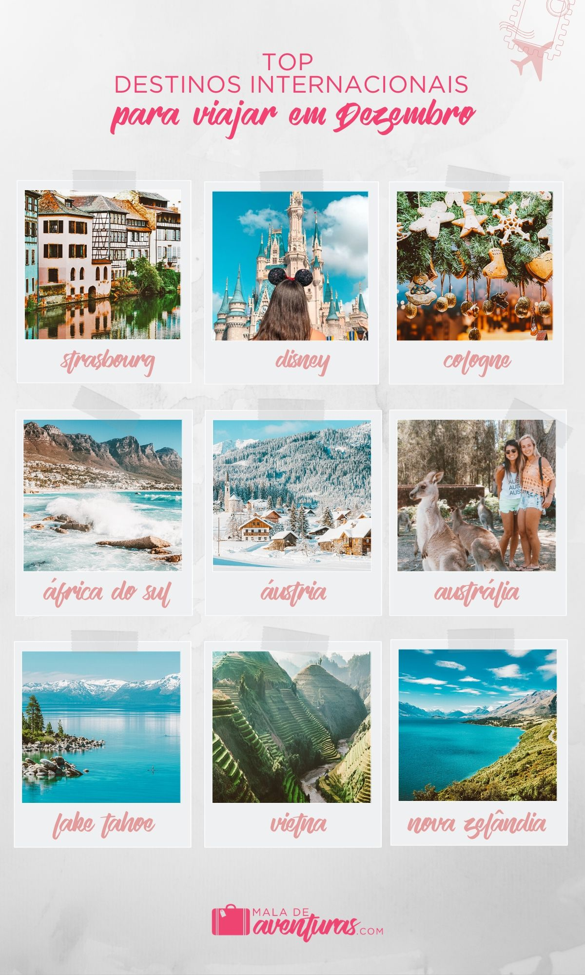 para onde viajar em dezembro no exterior