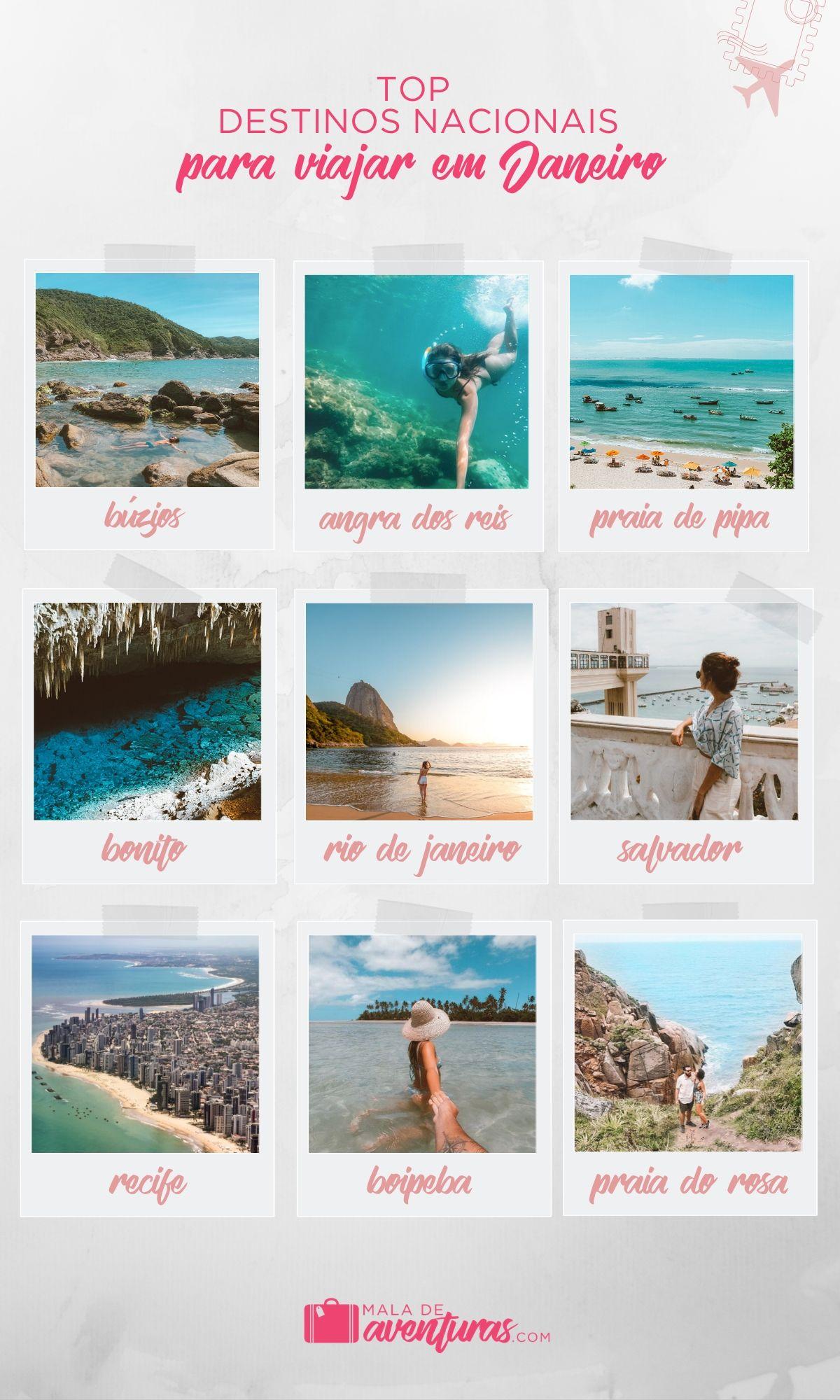 para onde viajar em janeiro no brasil