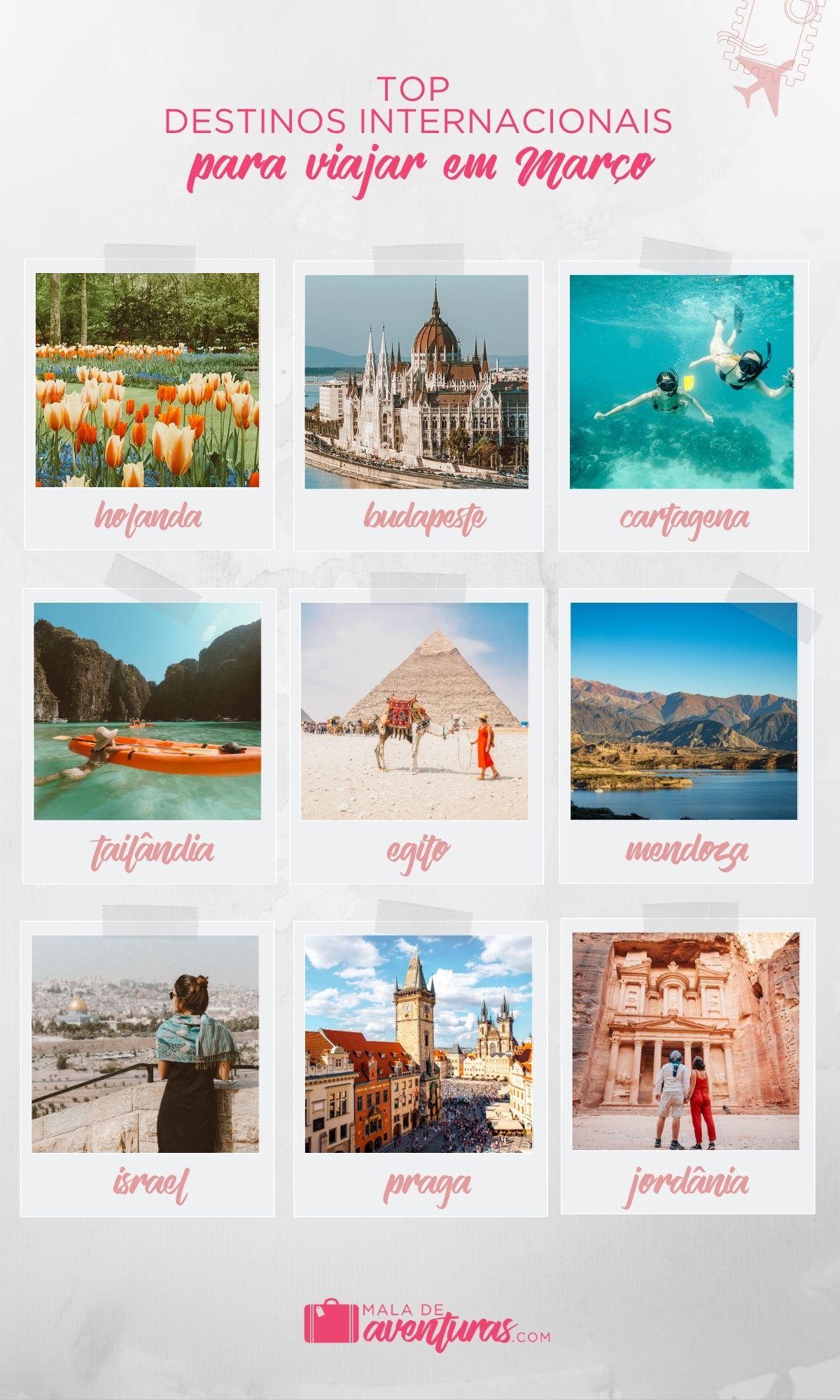 para onde viajar em março no exterior