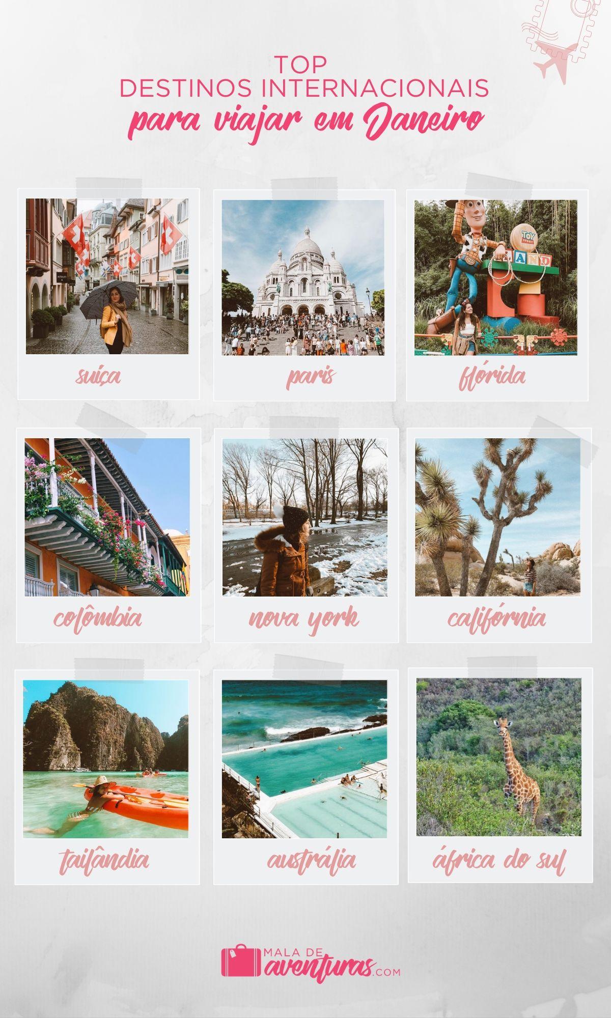para onde viajar em janeiro no exterior