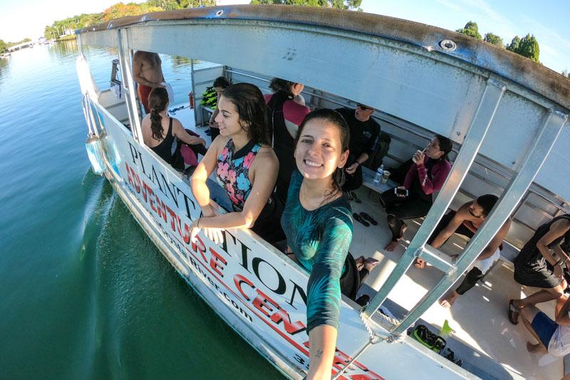 passeio de barco em crystal river