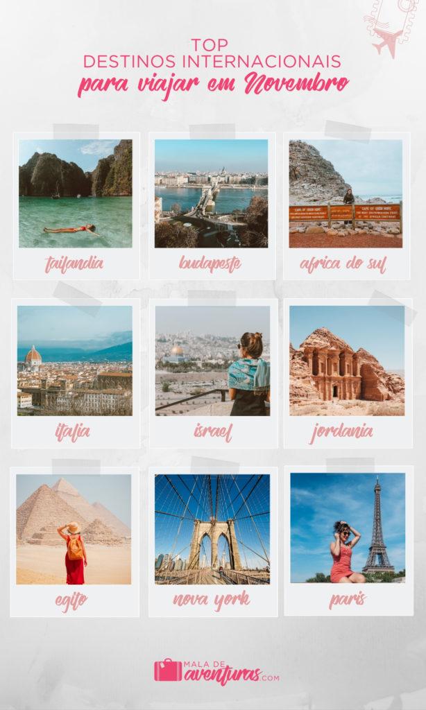 destinos para viajar em novembro internacional