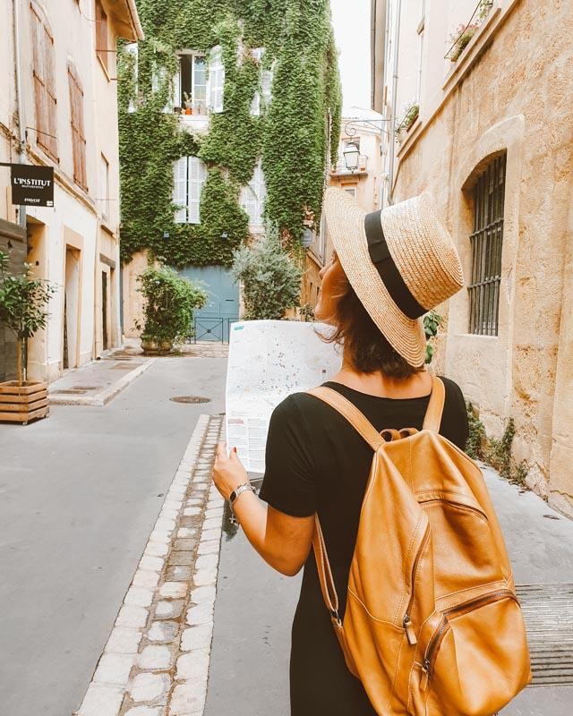 turista em aix en provence