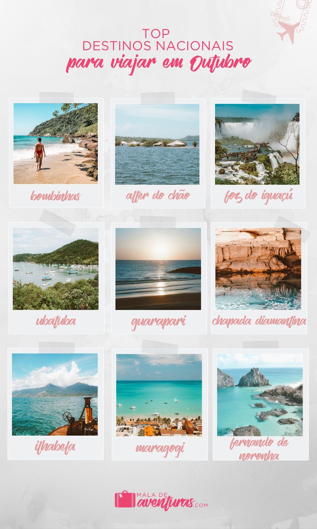 para onde viajar em outubro no brasil