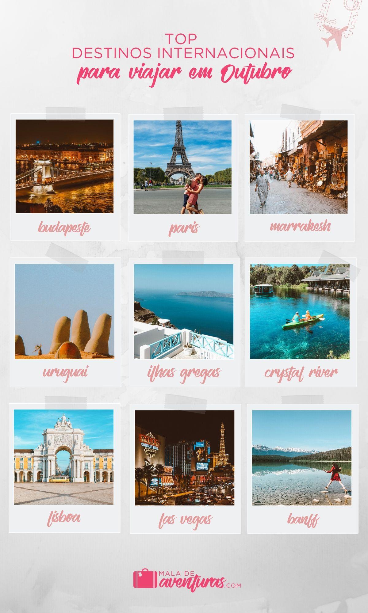 para onde viajar em outubro no exterior