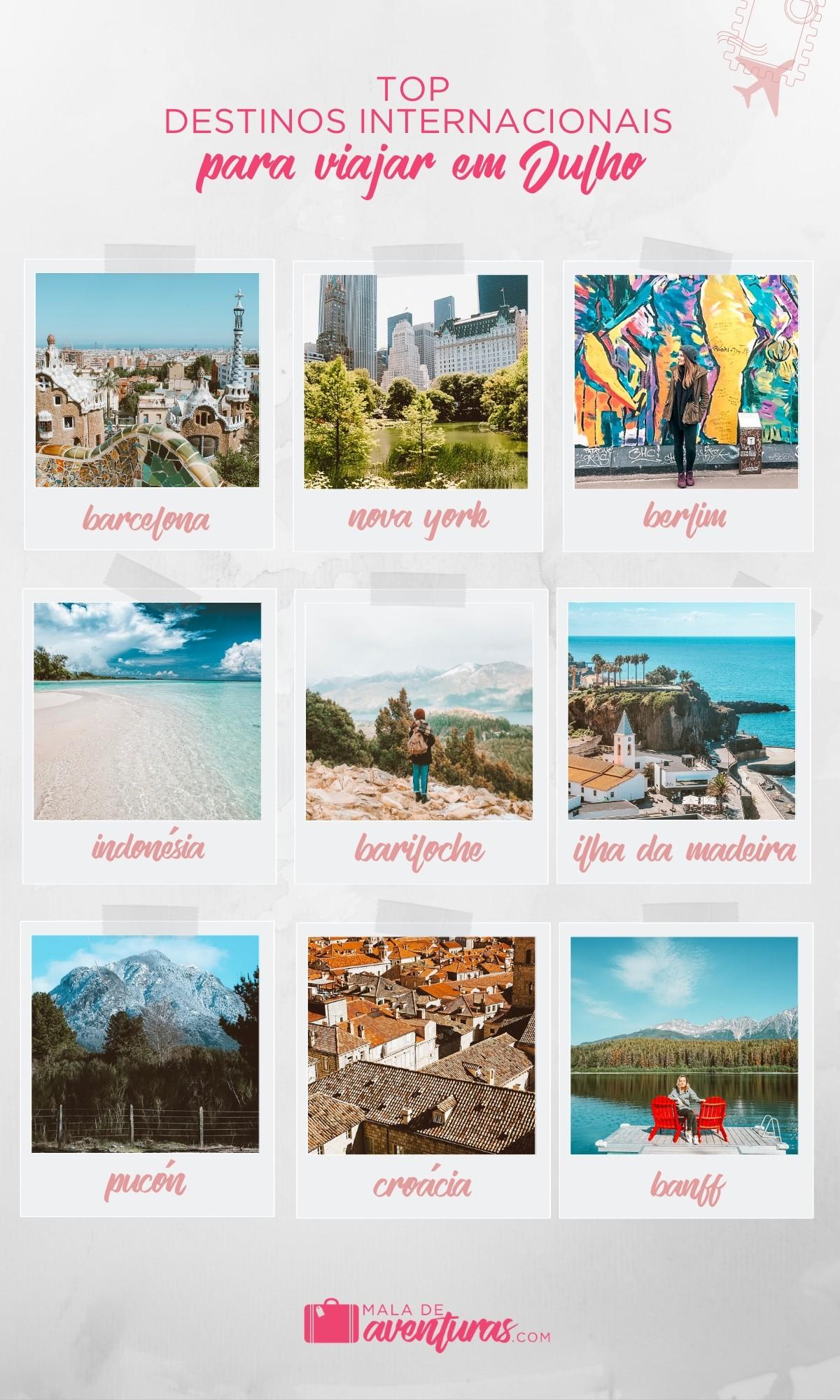 top destinos para viajar em julho no exterior
