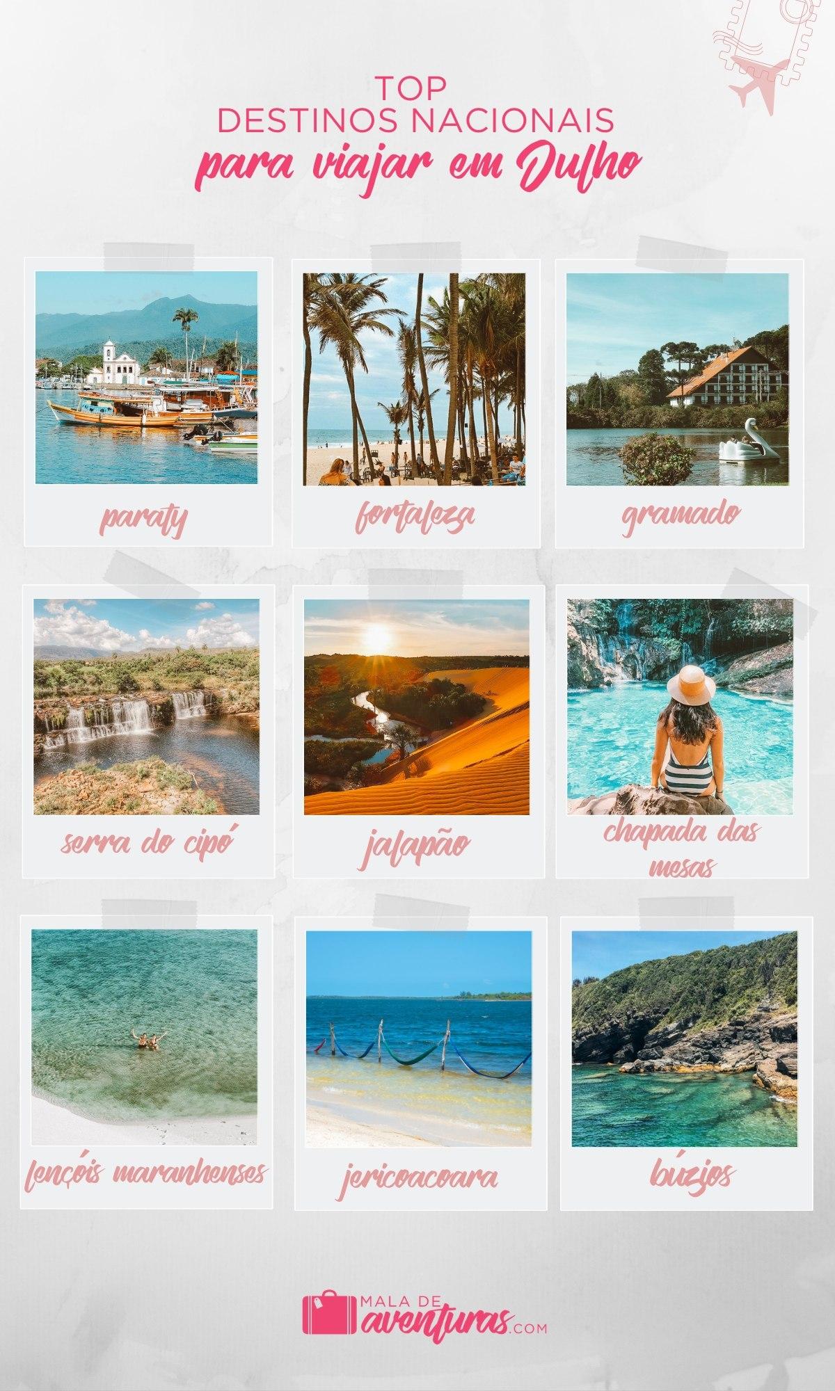 top destinos para viajar em julho no brasil