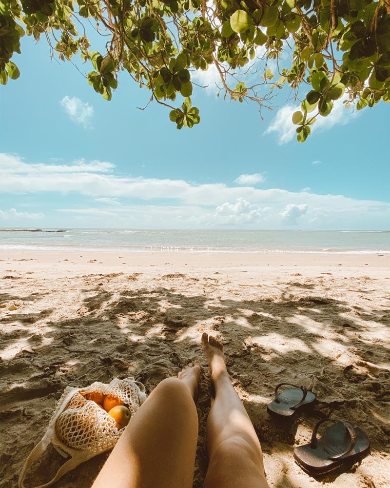 praia em cumuruxatiba