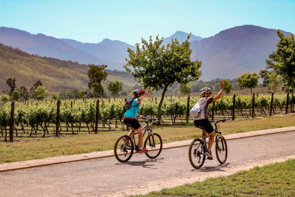 tour de bike nas vinicolas da africa do sul
