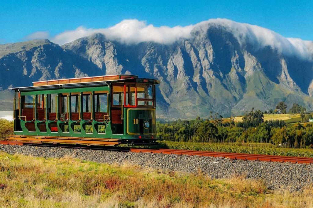wine tram africa do sul