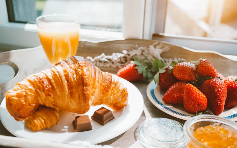 cafe da manhã francês