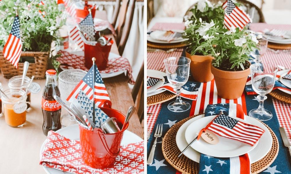 decoração jantar americano
