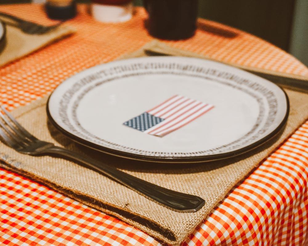 jantar americano decoração