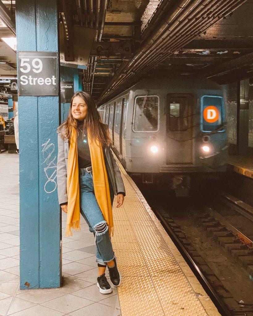 fotos no metrô em nova york