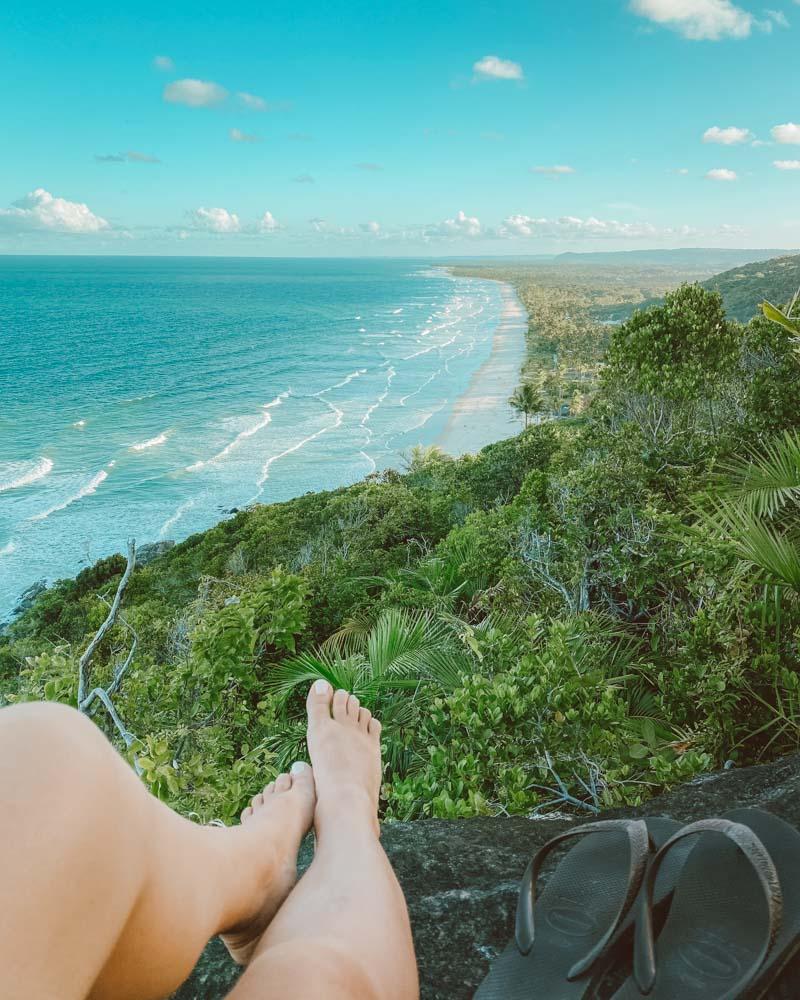 Mirante para a Praia Pé de Serra