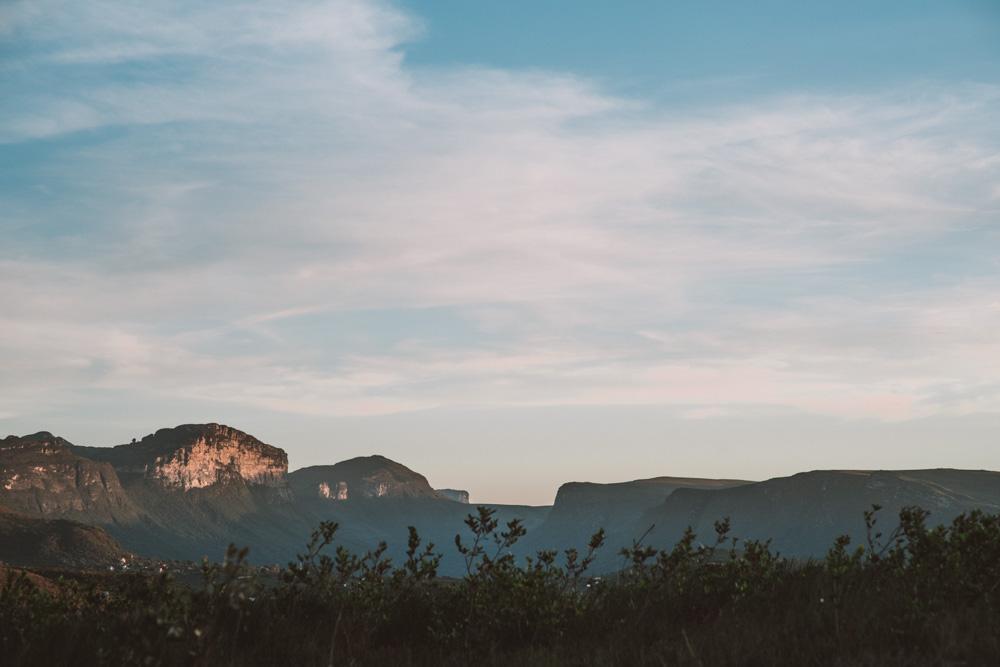 por do sol no vale do capão
