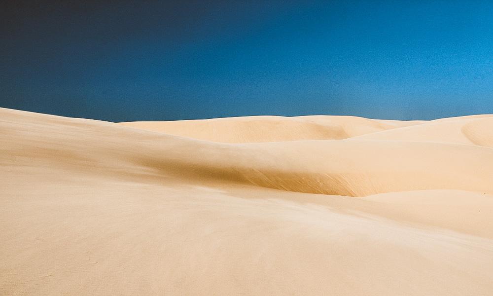 dunas nas ilhas das canárias